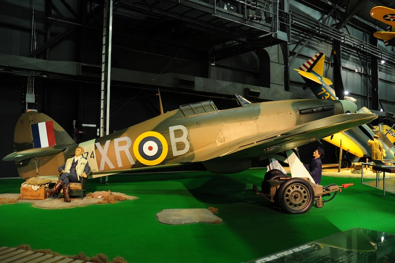 DAYTON, Ohio -- Hawker Hurricane diorama in the Early Years Gallery at the National Museum of the United States Air Force. (U.S. Air Force photo)