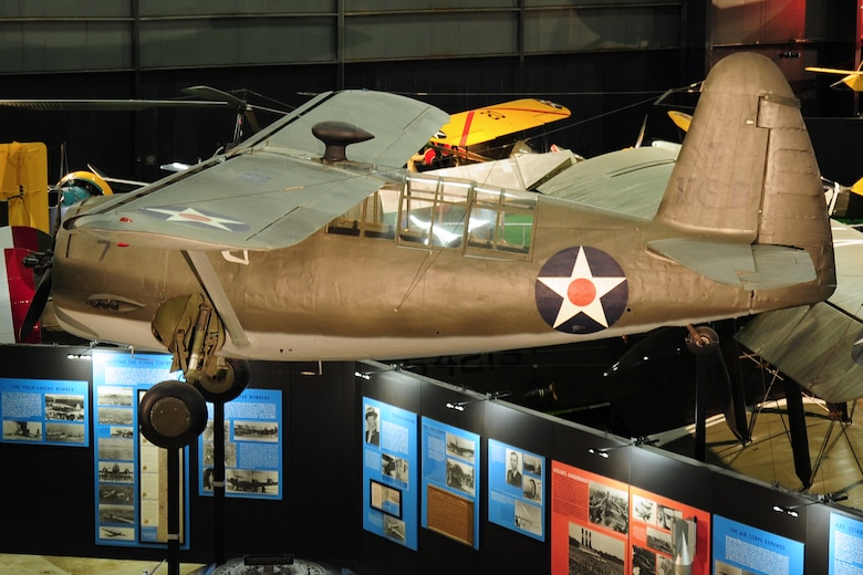 DAYTON, Ohio -- Curtiss O-52 in the Early Years Gallery at the National Museum of the United States Air Force. (U.S. Air Force photo)