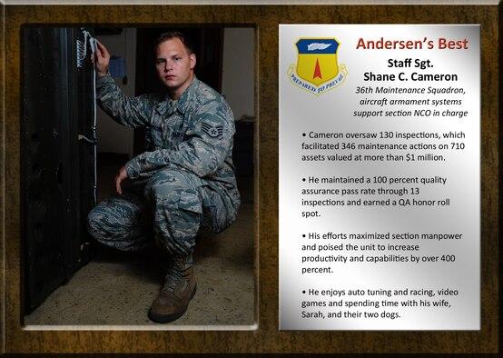 Team Andersen's Best: Staff Sgt. Shane C. Cameron