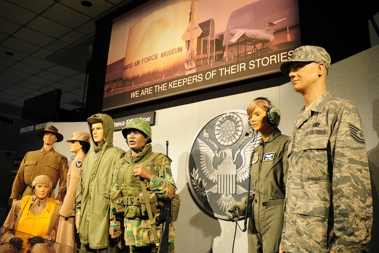 DAYTON, Ohio -- History of the Enlisted exhibit at the National Museum of the U.S. Air Force. (U.S. Air Force photo)