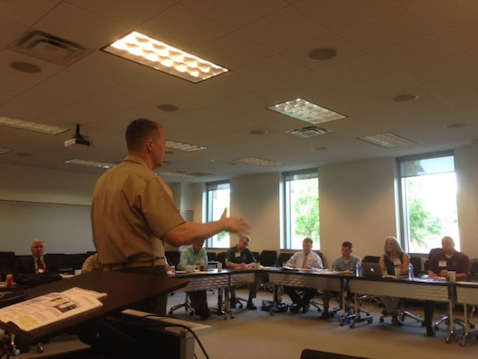 U.S. Marine Corps Lieutenant General Robert R. Ruark, Joint Staff Director for Logistics, provides the senior leader perspective during the 2015 Joint Logistics Faculty Development Workshop hosted recently by the Center for Joint & Strategic Logistics at Fort McNair, Washington DC.
