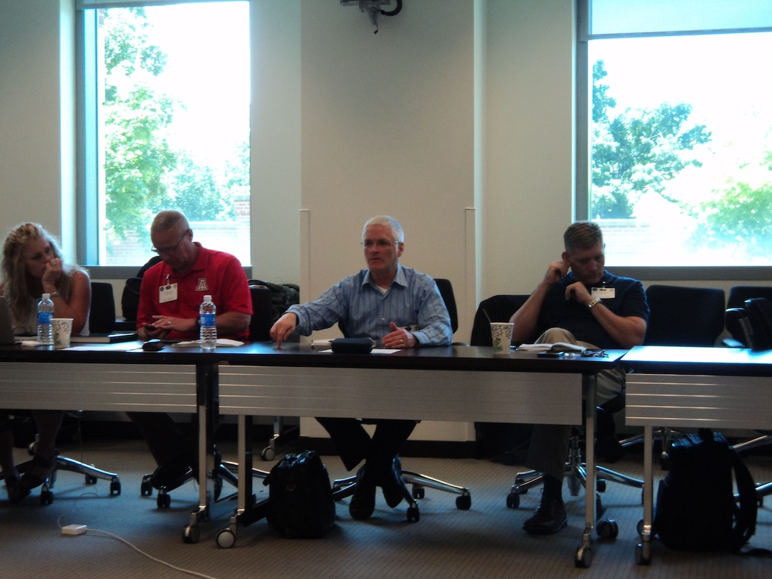 Attendees discuss the value of relevant logistics research during the 2015 Joint Logistics Faculty Development Workshop hosted recently by the Center for Joint & Strategic Logistics at Fort McNair, Washington DC.