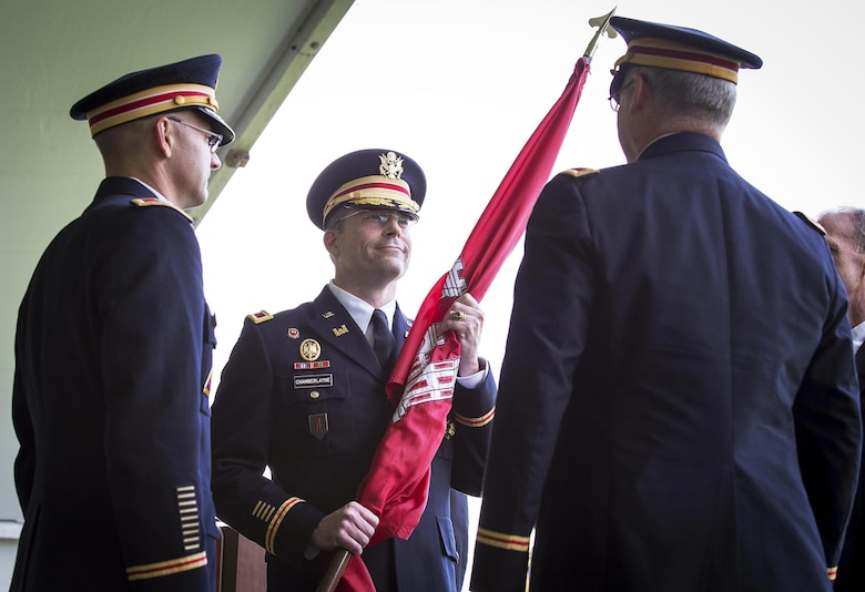 Col. Edward P. Chamberlayne became the 67th commander of the U.S. Army Corps of Engineers, Baltimore District, during a traditional military change of command ceremony Friday at Fort McHenry, Baltimore, Maryland, July 17, 2015.