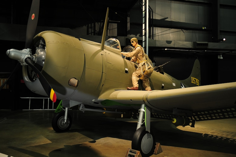 DAYTON, Ohio -- Douglas A-24 in the World War II Gallery at the National Museum of the United States Air Force. (U.S. Air Force photo)