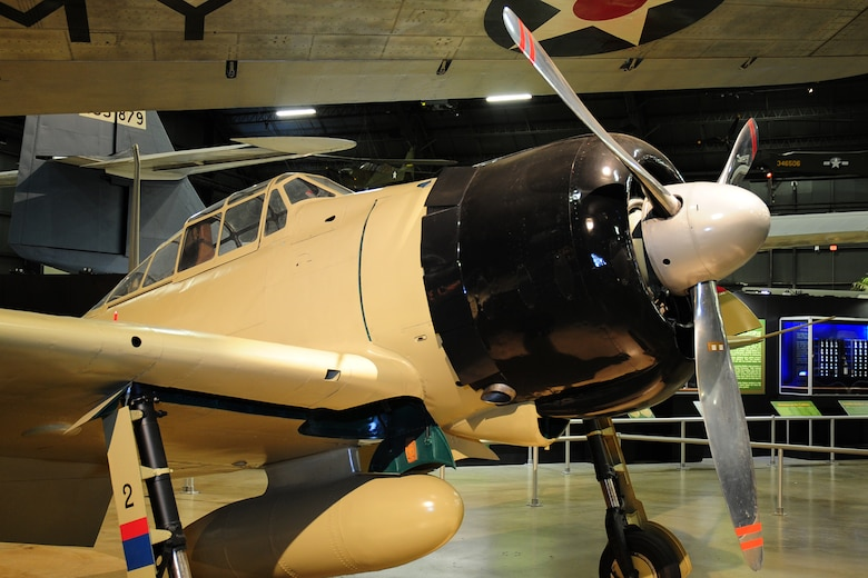 DAYTON, Ohio -- Mitsubishi A6M2 Zero in the World War II Gallery at the National Museum of the United States Air Force. (U.S. Air Force photo)