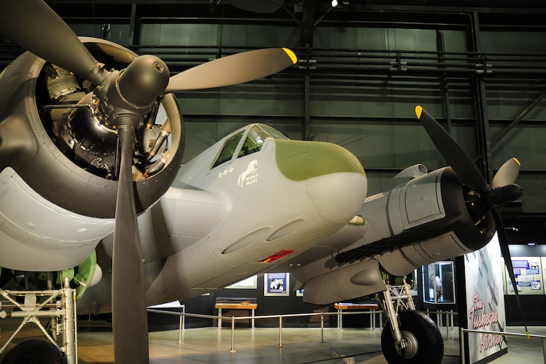 DAYTON, Ohio -- Bristol Beaufighter in the World War II Gallery at the National Museum of the United States Air Force. (U.S. Air Force Photo)