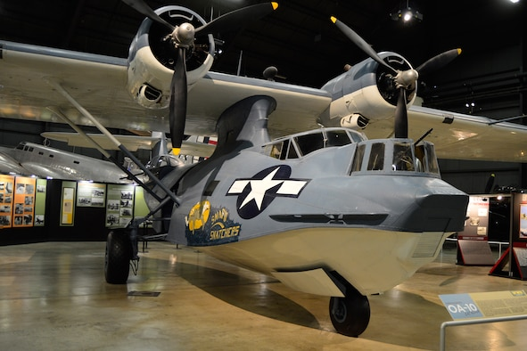 DAYTON, Ohio -- Consolidated OA-10 Catalina in the World War II Gallery at the National Museum of the United States Air Force. (U.S. Air Force photo)