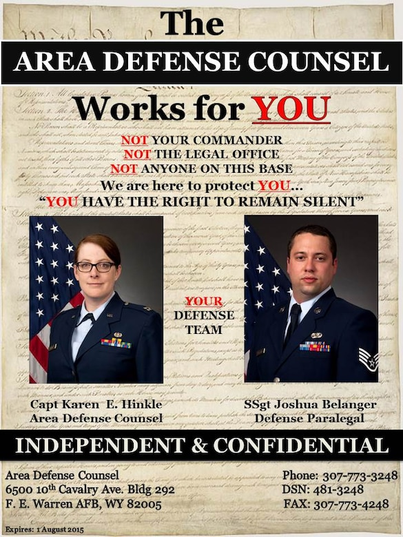 Area Defense Counsel poster
