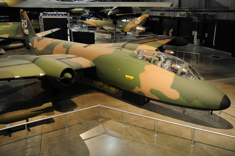 DAYTON, Ohio - Martin B-57 in the Southeast Asia War Gallery at the National Museum of the United States Air Force. (U.S. Air Force photo)