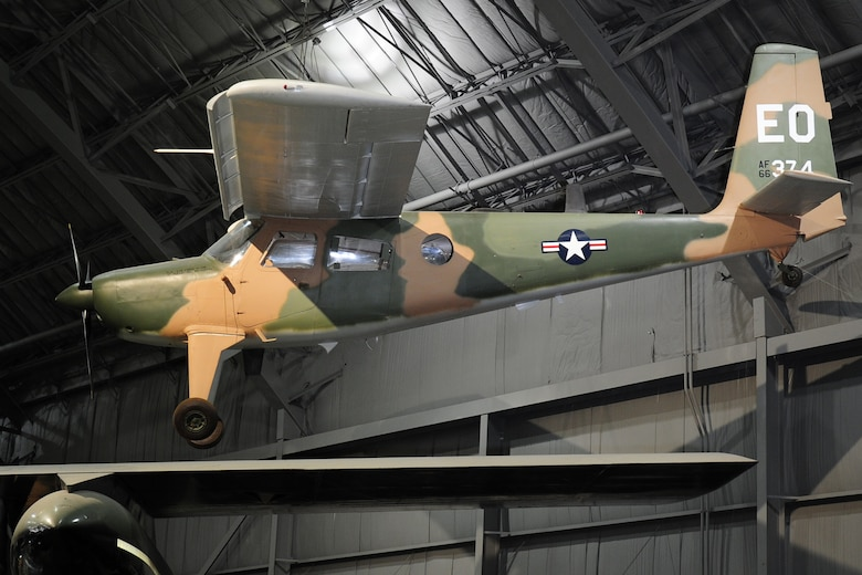 DAYTON, Ohio -- Helio U-10D Super Courier in the World War II Gallery at the National Museum of the United States Air Force. (U.S. Air Force photo)