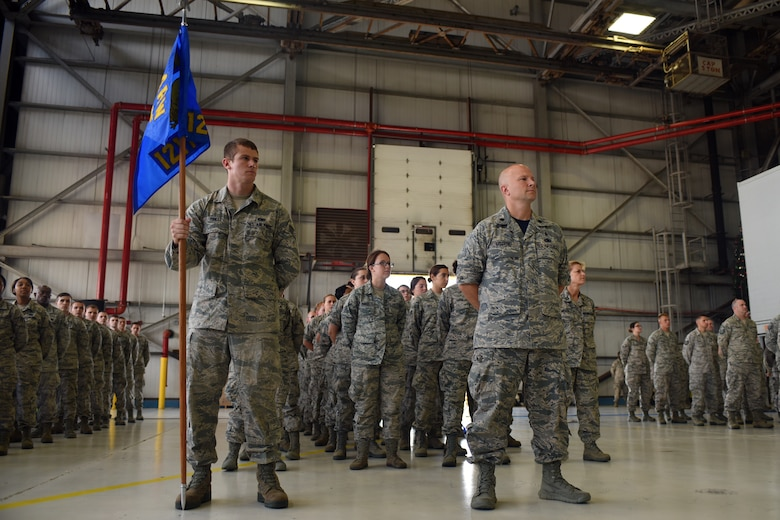 The 121st Air Refueling Wing held a change of command ceremony July 12, 2015, at Rickenbacker Air National Guard Base, Ohio. Command of the wing was transferred from U.S. Air Force Col. Jim Jones to Col. Mark Auer.(U.S. Air National Guard photo by Master Sgt. Ralph Branson/Released)