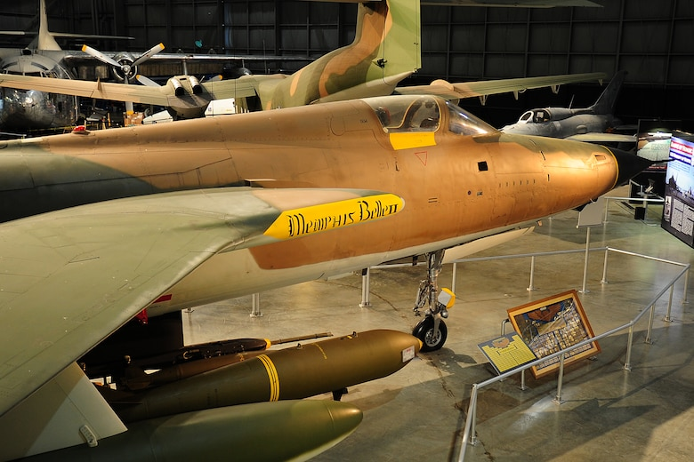 DAYTON, Ohio -- Republic F-105D Thunderchief in the Southeast Asia War Gallery at the National Museum of the United States Air Force. (U.S. Air Force photo)