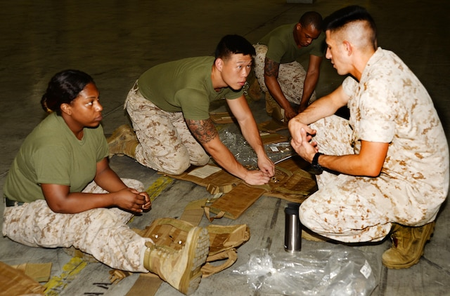 More than 20 reservists with Detachment 2, Supply Company, Combat Logistics Battalion-451, from Anacostia, Washington, D.C.; and 4th Civil Affairs Group from Miami, Florida, hone their supply warehouse skills during training aboard Marine Corps Logistics Base Albany, July 22.