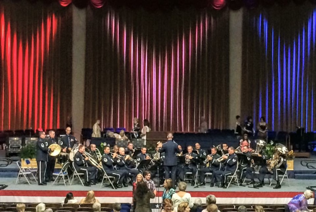 The United States Air Force Band Ceremonial Brass recently performed for the 125th anniversary celebration of the National Society Daughters of the American Revolution.  This special performance took place at DAR Constitution Hall in downtown Washington, D.C. (U.S. Air Force Photo/released)