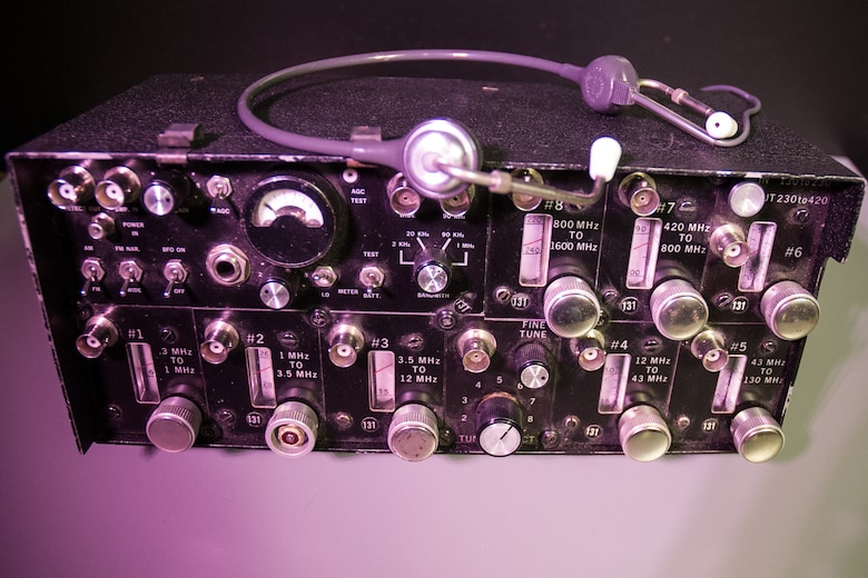 DAYTON, Ohio - An electronic listening device receiver on display in the Office of Special Investigations exhibit in the Cold War Gallery at the National Museum of the U.S. Air Force. (U.S. Air Force photo)