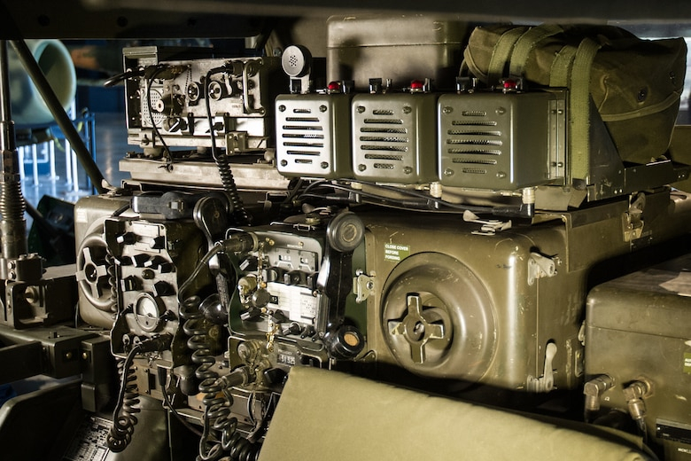 DAYTON, Ohio -- Interior of the AN/MRC-108 Communication System on display in the Southeast Asia War Gallery at the National Museum of the U.S. Air Force. (U.S. Air Force photo)
