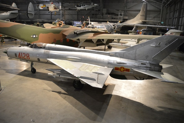 DAYTON, Ohio --Mikoyan-Gurevich MiG-21PF in the Southeast Asia War Gallery at the National Museum of the U.S. Air Force. (U.S. Air Force Photo)