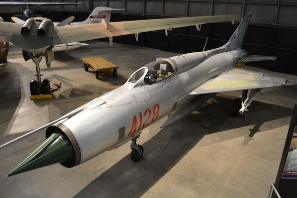 DAYTON, Ohio -- Mikoyan-Gurevich MiG-21PF in the Southeast Asia War Gallery at the National Museum of the U.S. Air Force. (U.S. Air Force Photo)
