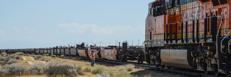 Railway company boards Edwards' tracks > Edwards Air Force Base > News