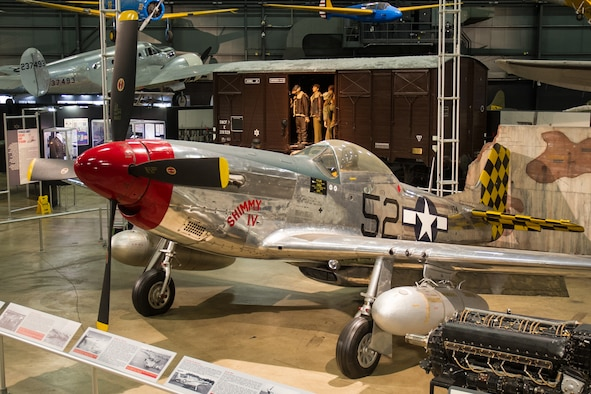 DAYTON, Ohio -- North American P-51D Mustang in the World War II Gallery at the National Museum of the United States Air Force. (U.S. Air Force photo)