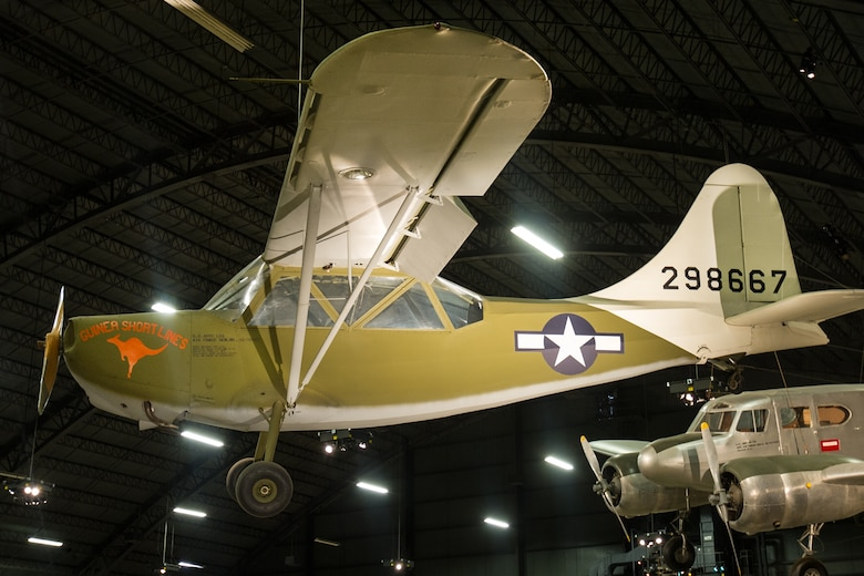 DAYTON, Ohio -- Stinson L-5 Sentinel in the World War II Gallery at the National Museum of the United States Air Force. (U.S. Air Force photo)