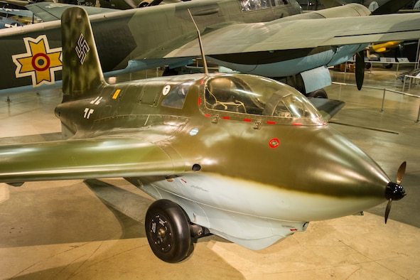 DAYTON, Ohio -- Messerschmitt Me 163B in the World War II Gallery at the National Museum of the United States Air Force. (U.S. Air Force photo)