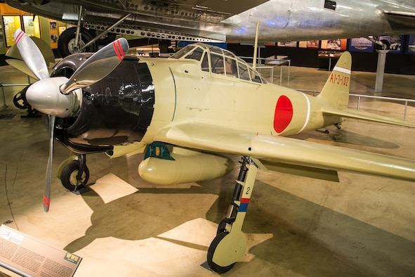 DAYTON, Ohio -- Mitsubishi A62M Zero in the World War II Gallery at the National Museum of the United States Air Force. (U.S. Air Force photo)