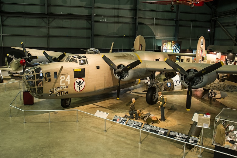 DAYTON, Ohio -- Consolidated B-24D Liberator in the World War II Gallery at the National Museum of the United States Air Force. (U.S. Air Force photo)