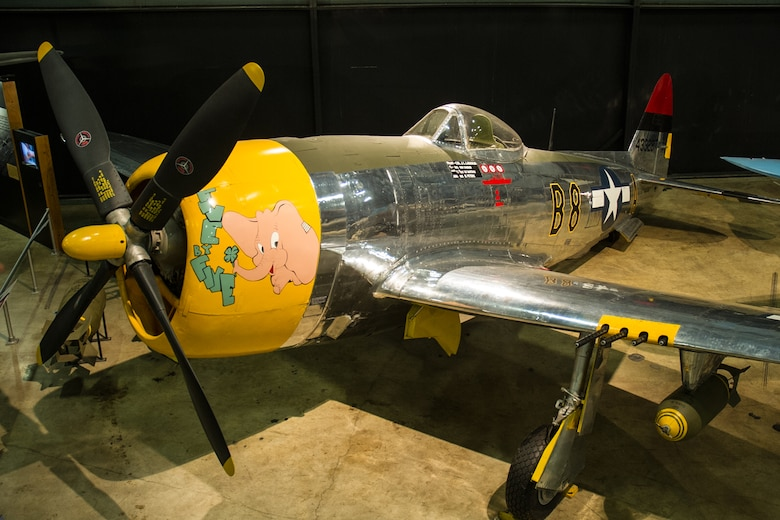DAYTON, Ohio -- Republic P-47D (bubble canopy version) in the World War II Gallery at the National Museum of the United States Air Force. (U.S. Air Force photo)