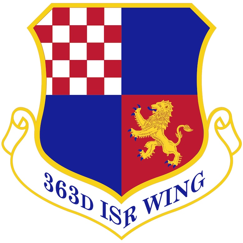 363rd Intelligence, Surveillance and Reconnaissance Wing shield, full color. (U.S. Air Force graphic)