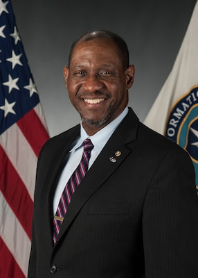 Portrait of Mr. Rivers Johnson, International Military Student Office chief, at the Defense Information School, Fort George G. Meade, Md., March 10, 2015. (DoD photo/Released)