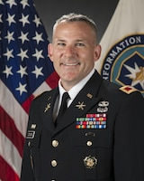 Portrait of Col. Martin Downie, Commandant, at the Defense Information School, Fort George G. Meade, Md., June 2, 2015. (DoD photo/Released)