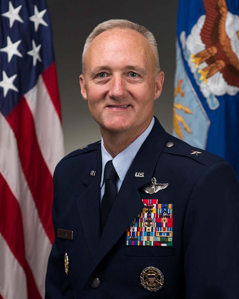 Brig. Gen. Thomas Ayers was photographed in the Pentagon on July 23, 2015, Washington, D.C. (U.S. Air Force photo/Jim Varhegyi)