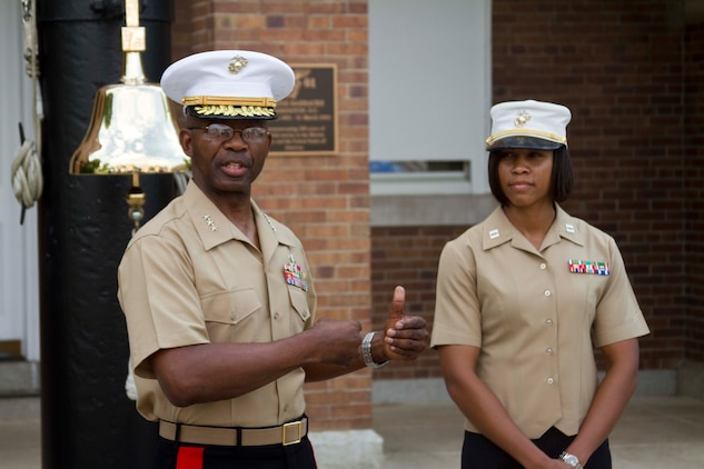 Marine from houston promoted by three star general 4th marine corps district news article - Becoming a marine officer ...