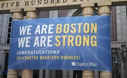 The 2014 Boston Marathon was about many different things for many people. It represents runners and Americans taking back the race. Before the race, runners had a moment of silence for the fallen from the year before. The military flew over the starting line. For Chamberlain, the race also represents not giving up on a dream when the chips are down. He fought a very painful injury and came close to quitting several times except but some very special people kept him going.