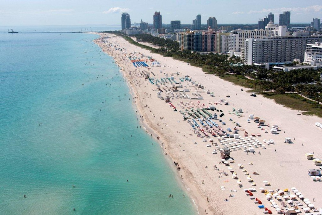 Renourished Miami-Dade County Beach