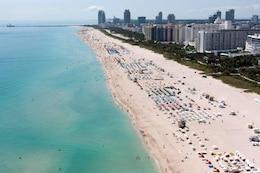 Renourished Miami-Dade County Beach