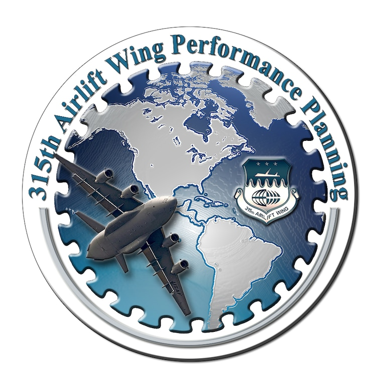 315th Airlift Wing Performance Planning logo (U.S. Air Force graphic by Michael Dukes)