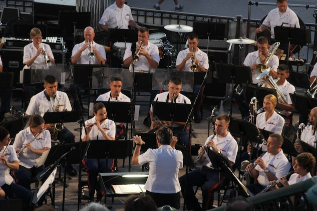 On Aug. 14, 2013, the Marine Band performed a Summer Fare concert at the U.S. Capitol.