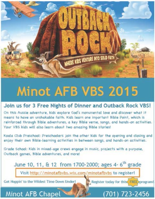 Check out the Chapel sponsored vacation bible school.