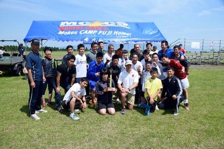Col Fullwood, CO CATC Camp Fuji, with the winning team from JGSDF Fuji Schools