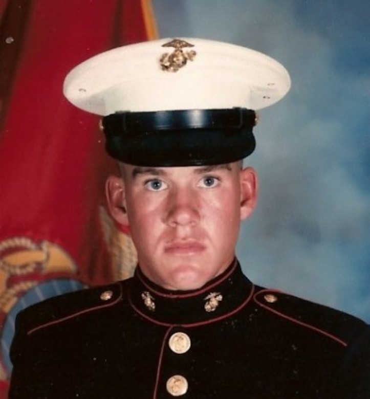 First Sergeant Brad Trelstad during his time as a United States Marine. Photo courtesy of Brad Trelstad.