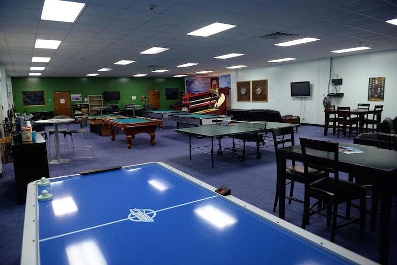 The Hot Spot has pingpong tables, pool tables, video game systems and a music room for avid musicians. Located in Bldg. 25005 next to the bowling center, the Hot Spot offers two sections, Airmen's center and community center, for people to enjoy their time at Andersen Air Force Base and Guam. (U.S. Air Force photo by Airman 1st Class Joshua Smoot)