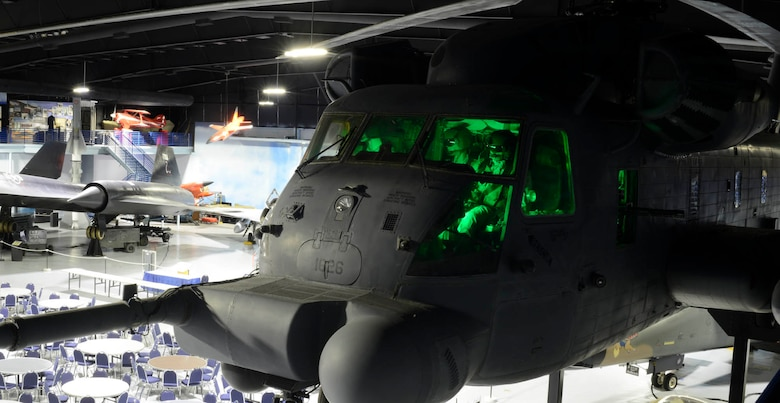 This Sikorsky MH-53M Super Jolly was assigned to the 20th Expeditionary Special Operations Squadron and one of its last combat missions was in Iraq in 2008. The aircraft flew to Robins in 2008 for retirement and display at the Museum of Aviation. (U.S. Air Force photo by Ed Aspera)