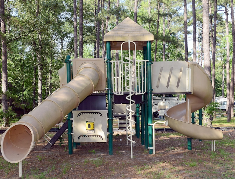 Robins Family Campground, commonly referred to as Fam Camp, features play areas for children of all ages. (U.S. Air Force photo by Tommie Horton)