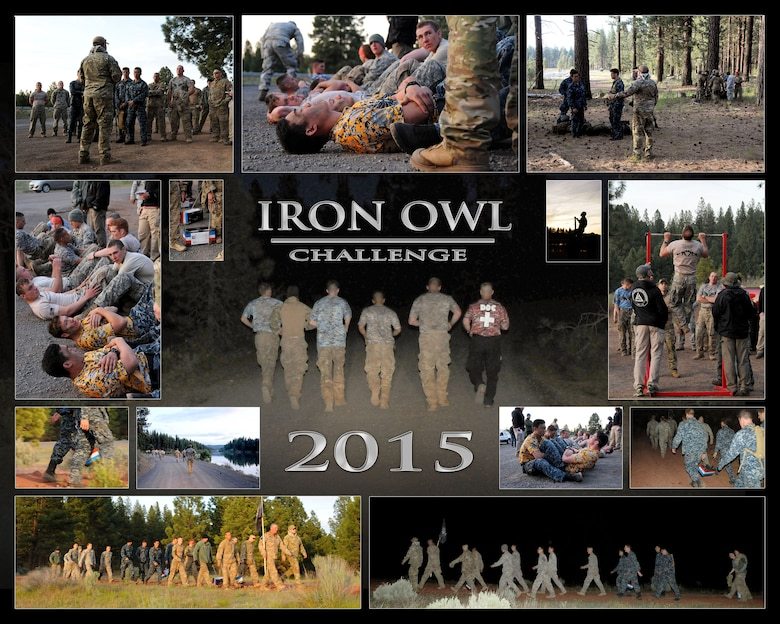 Four members of the 173rd Fighter Wing joined together to participate in this year's Iron Owl Challenge held in Klamath County, Ore., May 15th – 17th 2015.  The Iron Owl tests any willing participants in the rigorous, demanding challenges that typify military Special Operations training. Kingsley Field participated with three other teams from across the United States.  (U.S. Air Force photo collage by Senior Airman Penny Snoozy)