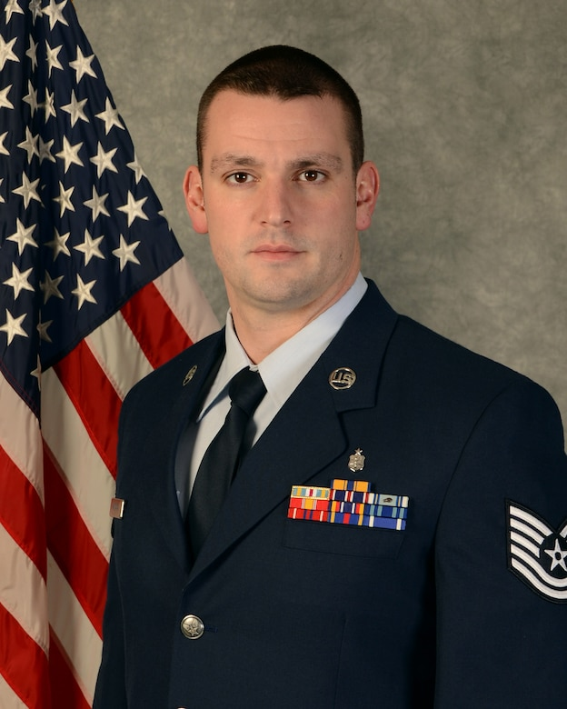 Tech. Sgt. Darrel Hanrahan, an aerospace medical services craftsman with the 103rd Medical Group, was selected to as the 2014 Connecticut Air National Guard Noncommissioned Officer of the Year at Bradley Air National Guard Base, East Granby, Conn. (U.S. Air National Guard photo by Master Sgt. Erin McNamara)