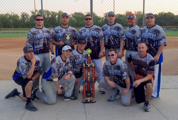 The Mountain Home Gunfighters softball team pose for a photo after winning the Cinco De Mayo Softball Tournament in Caldwell, Idaho, May 2, 2015. The Gunfighters are heading to Colorado Springs to compete in the largest military softball tournament June 12-14. (Courtesy Photo)