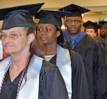 Graduates earned 245 associates degrees, 46 bachelors, 20 master' degrees and 17 certificates at the Combined Graduation Ceremony May 21.