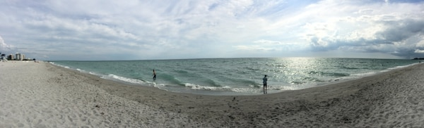 Panorama of newly renourished Venice Beach